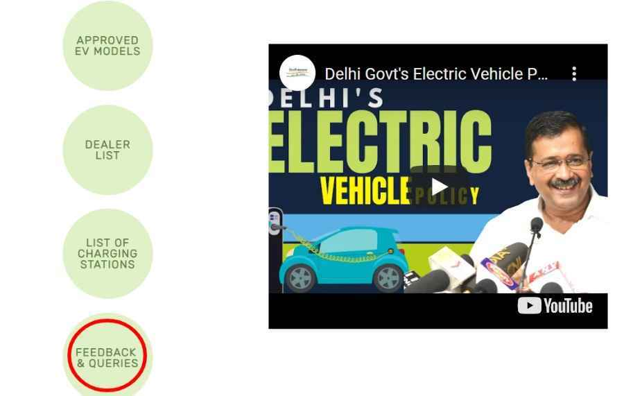 Feedback and Queries for Delhi EV Policy, 2020